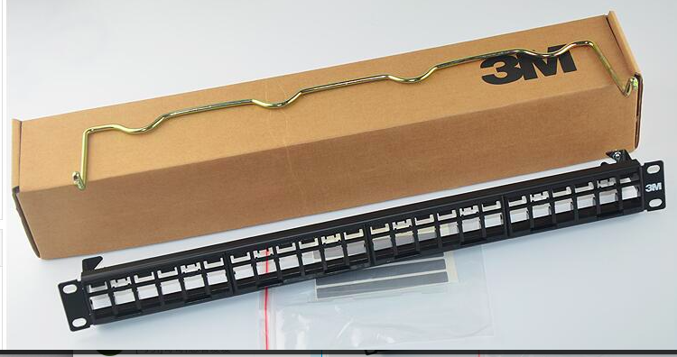 24 port cat6 3M patch panel ,hot selling utp 3M patch panel