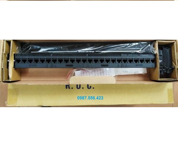Patch panel 24 cổng CAT6 UTP Alantek 302-201601-24AB