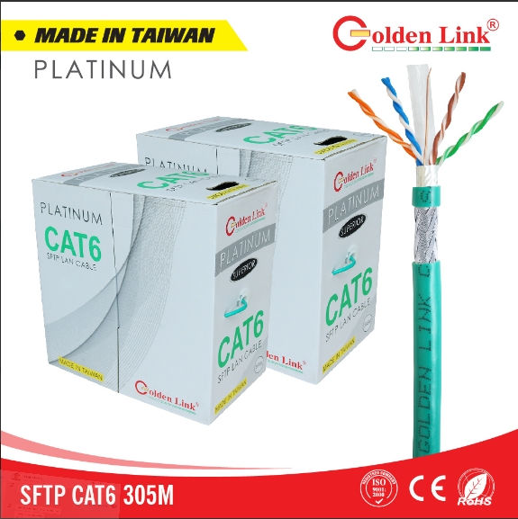 CÁP MẠNG GOLDEN LINK PLATINUM SFTP CAT 6
