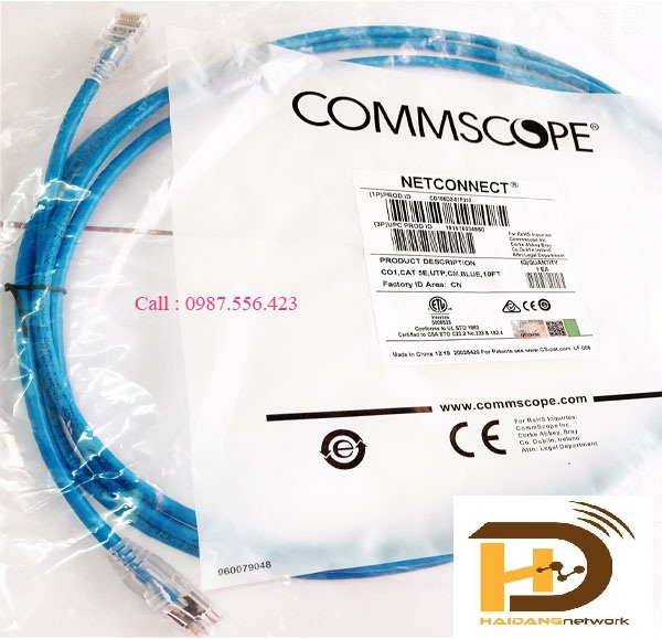Patch Cord AMP cat5e dài 1,5m serial :1859239-3
