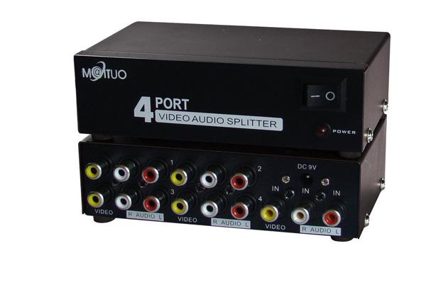 Bộ chia tín hiệu AV 4 ports,Bộ chia tín hiệu AV 8 ports hàng chính hãng