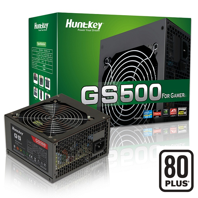 Nguồn Huntkey 500W GAMER STAR 500 - GS500 80Plus